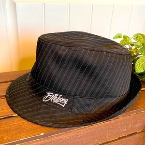 Billabong Fedora Style Hat Gray & White Pin Stripe